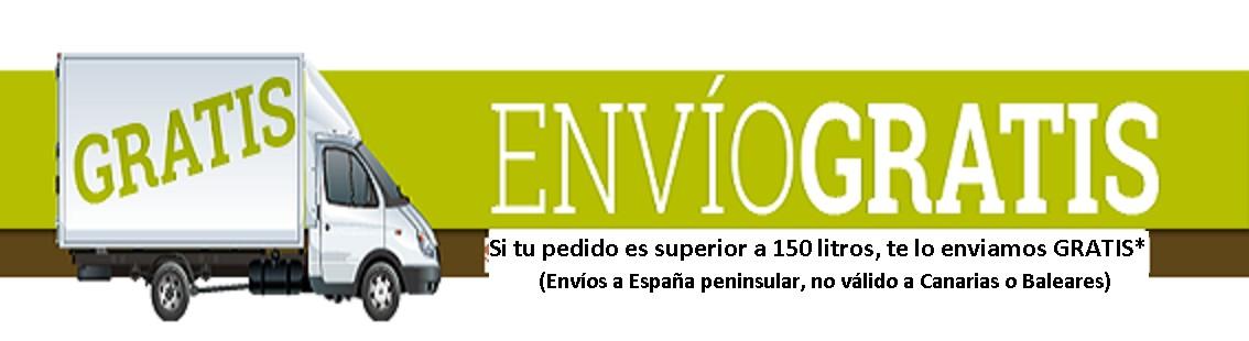 ENVÍO GRATIS* (a partir de 150 litros). Hasta el 30 de Abril!!!